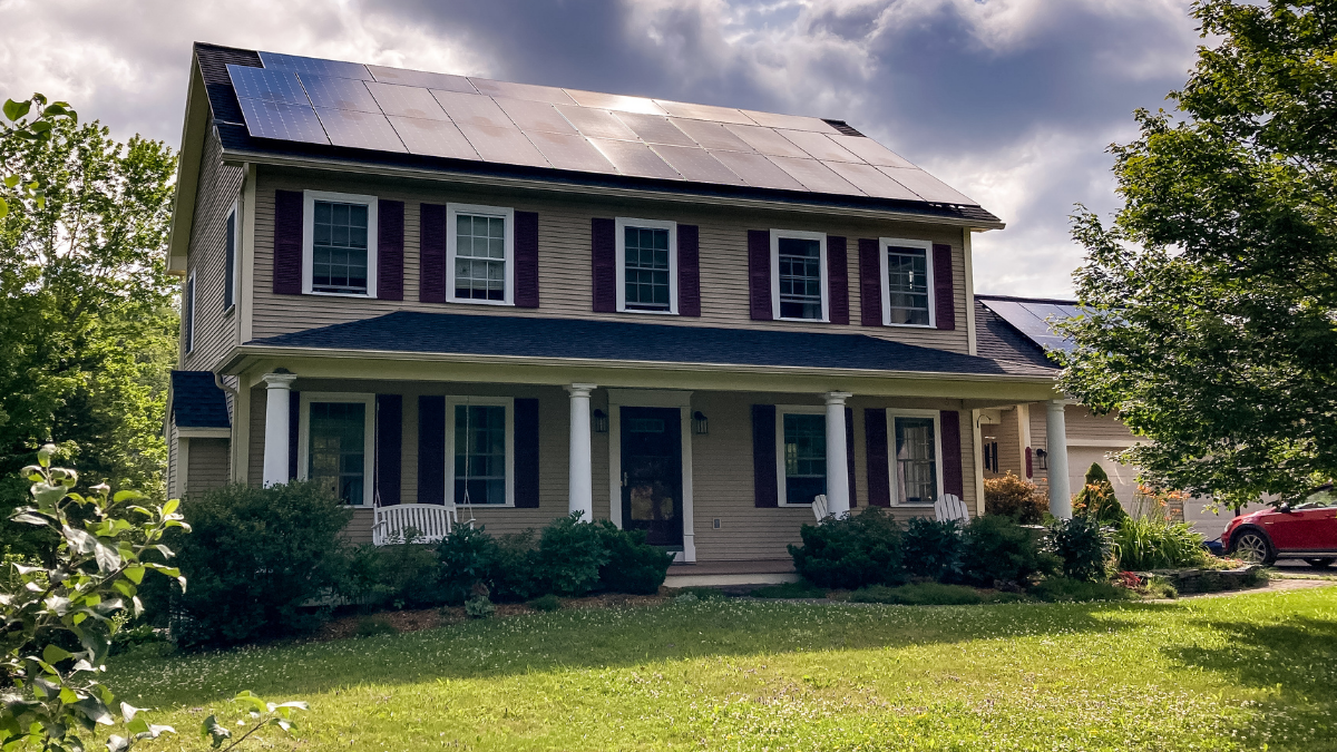 solar panels on a home green mountain solar