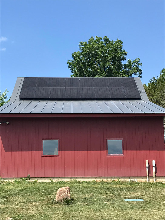 16 Panel LG All Black Solar Install <b>Cornwall, Vermont Solar Installation</b>