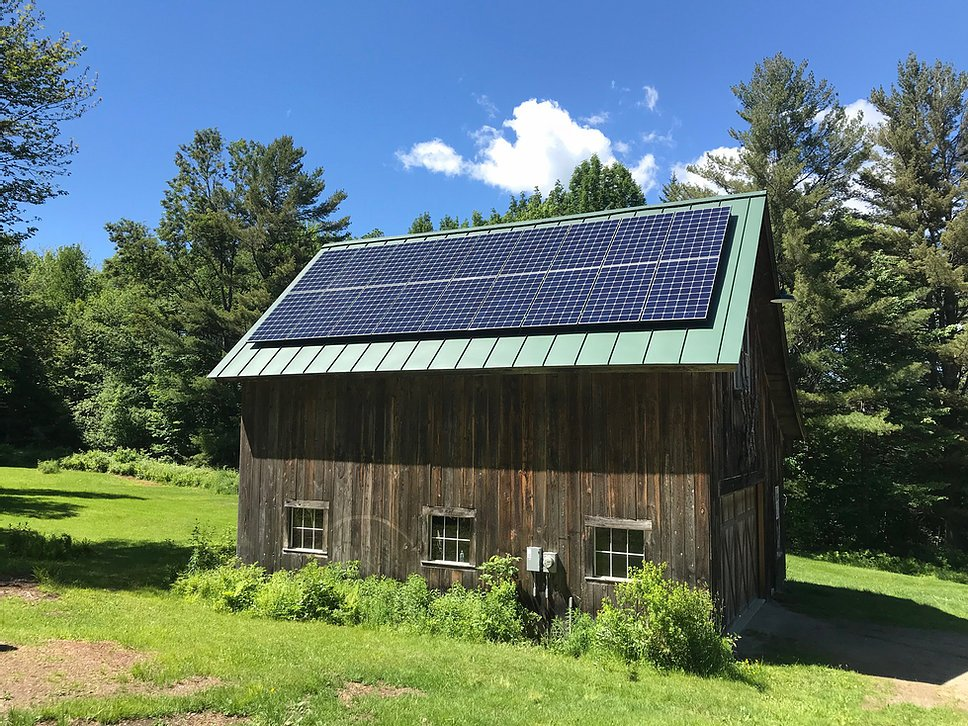 18 Panel LG 350w NeonR Panels <b>Solar Installation in Warren, VT</b>