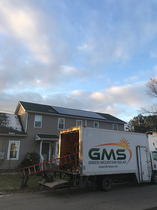 20 LG NeonR Panels and Microinverter <b>Burlington, VT Solar Installation</b>