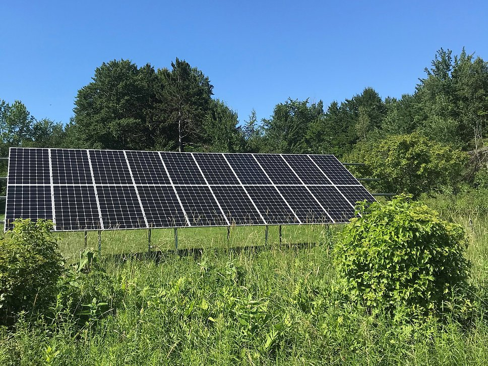 20 Panel LG Ground Mount Solar Array <b>Essex, VT Solar Installation</b>