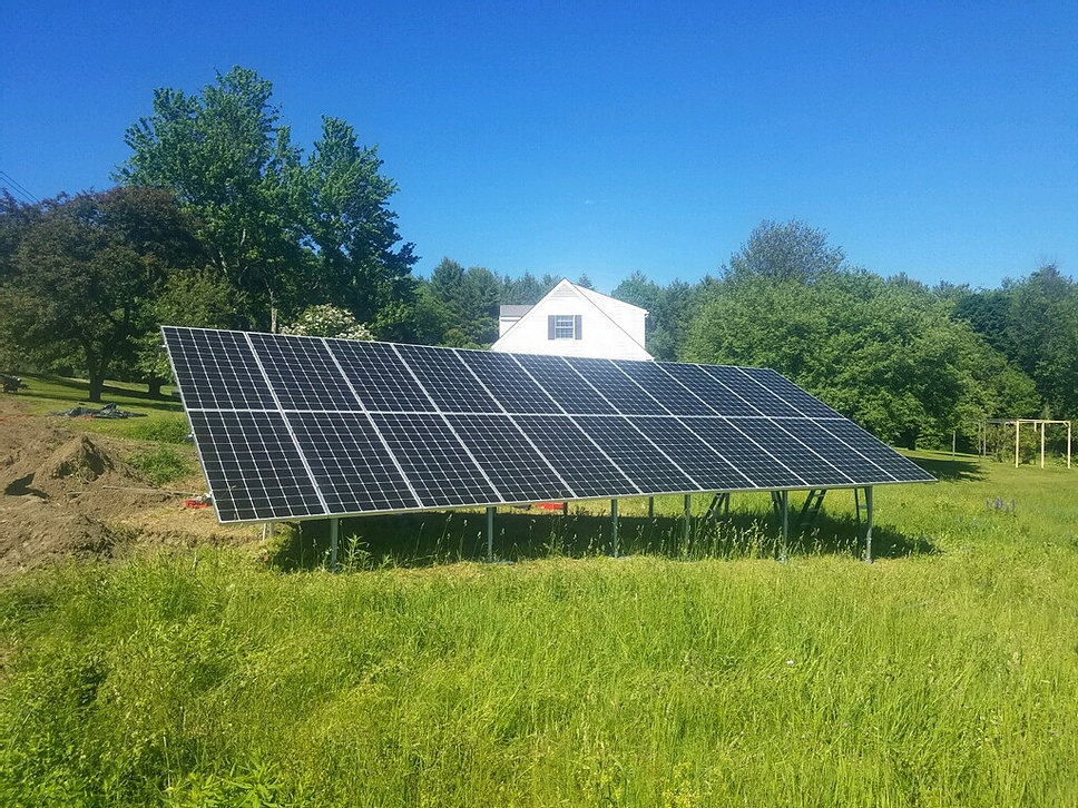 24 LG Neon2 Ground Mount Solar Array <b>E. Montpelier, Vermont Solar Installation</b>