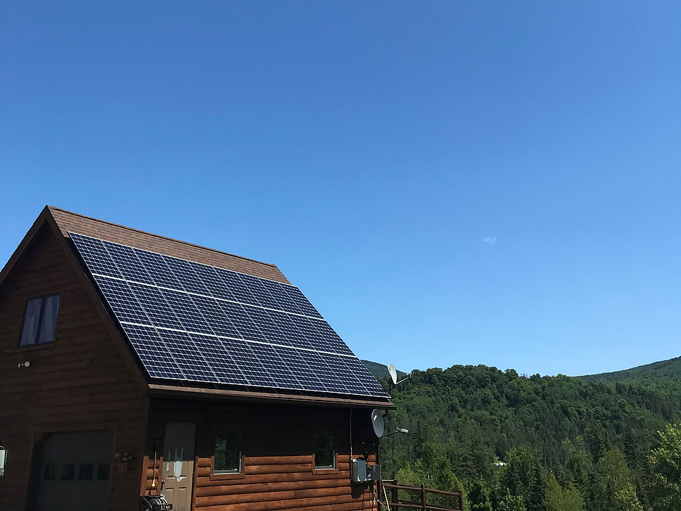 27 Panel LG NeonR Roof Mount Solar <b>Barre, Vermont Solar Installation</b>