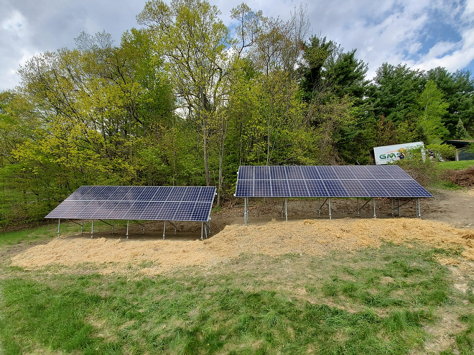 40 Panel LG NeonR Ground Mount Solar <b>Castleton Vermont Solar Installation</b>