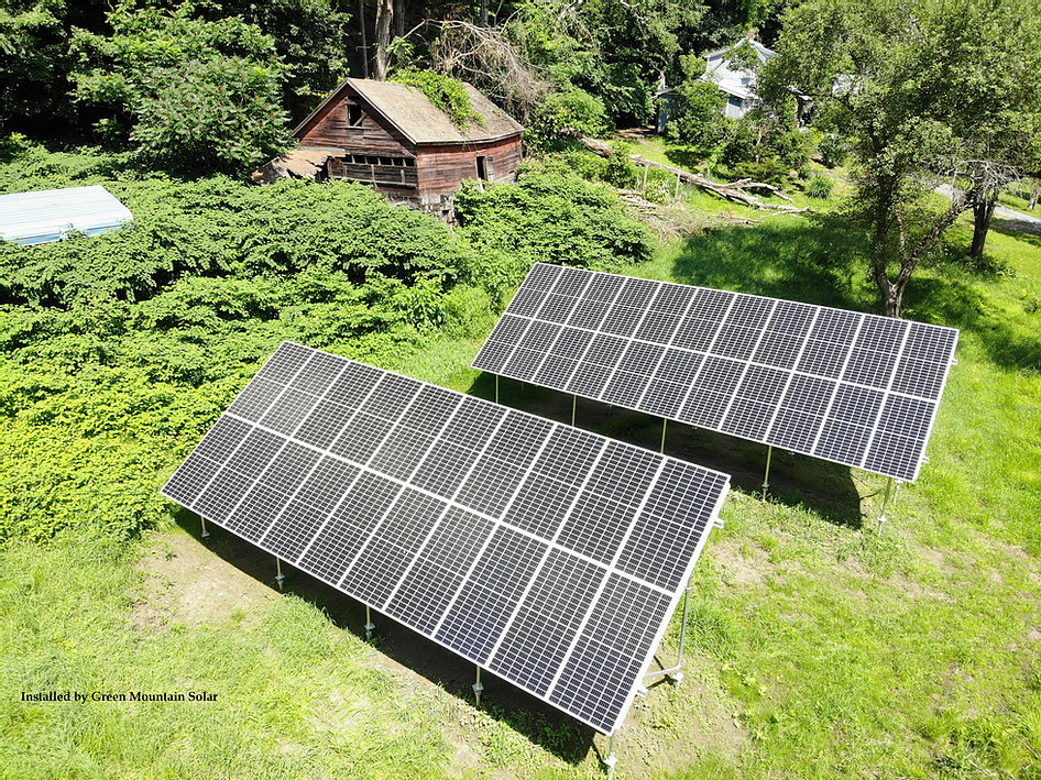 Windsor Solar Ground Array Install <b>44 Panel Solar Ground Array using Q-Cell 380w modules with the Enphase IQ7+ microinverters.  This is group net metered out to several family members homes to help them all offset their energy usage.</b>