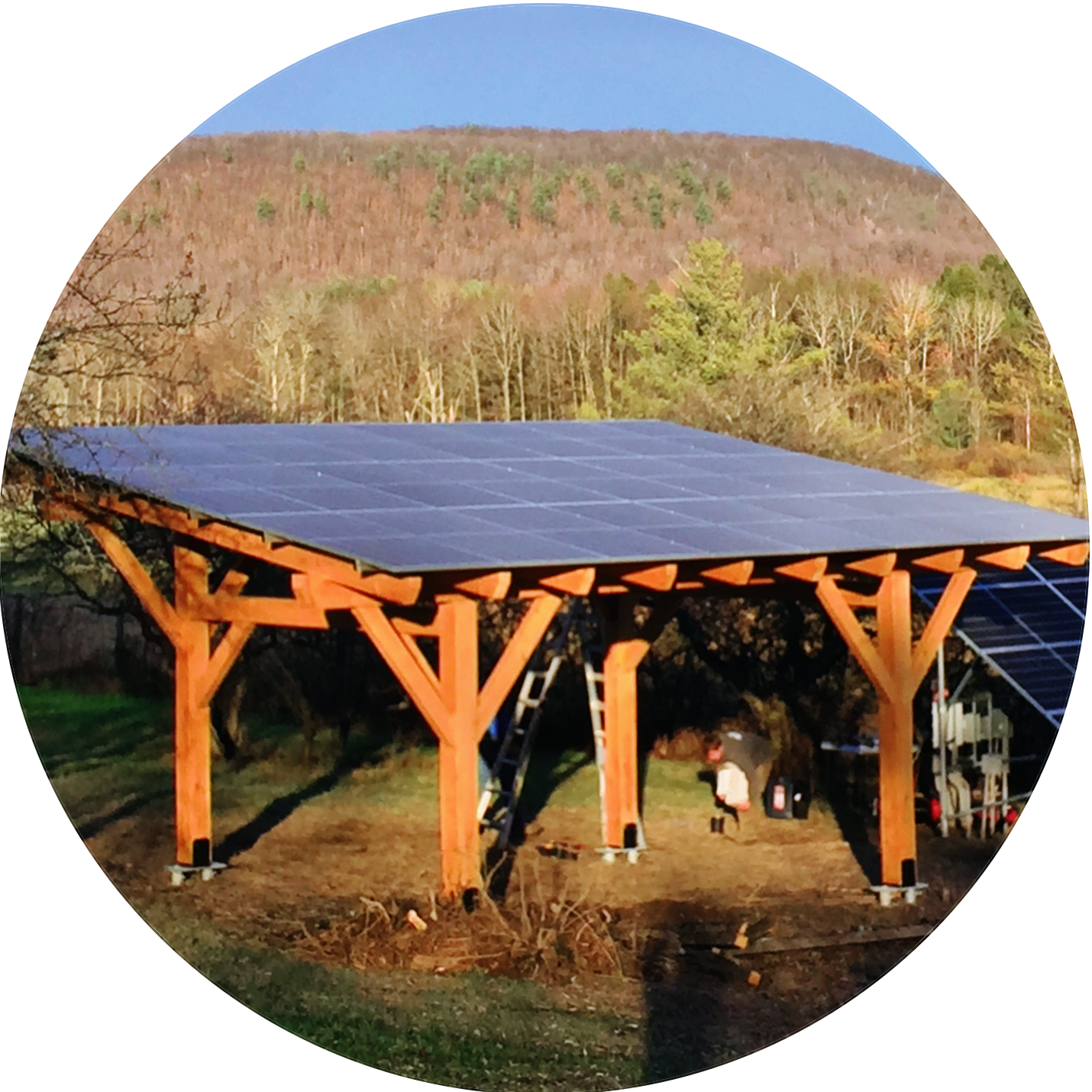 carport mounted solar panels in Vermont