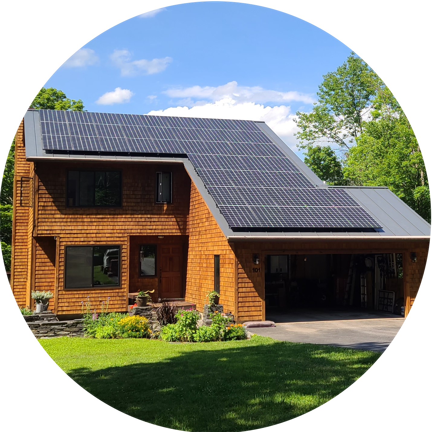 roof-mounted solar panels in Vermont